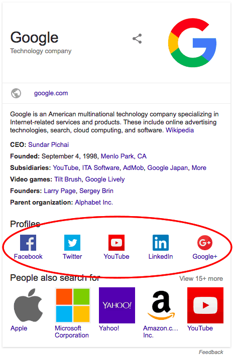 Social profile knowledge graph