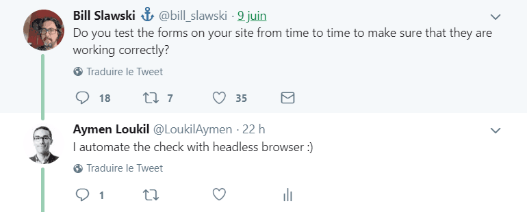 Discussion on twitter between Aymen Loukil and Bill Slawski