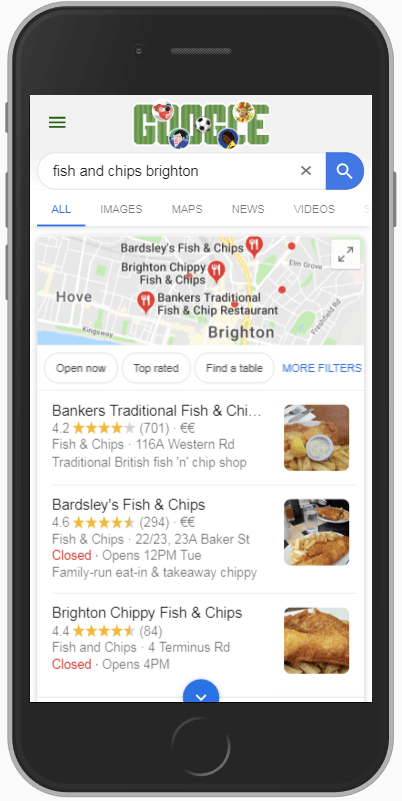 Google local pack maps