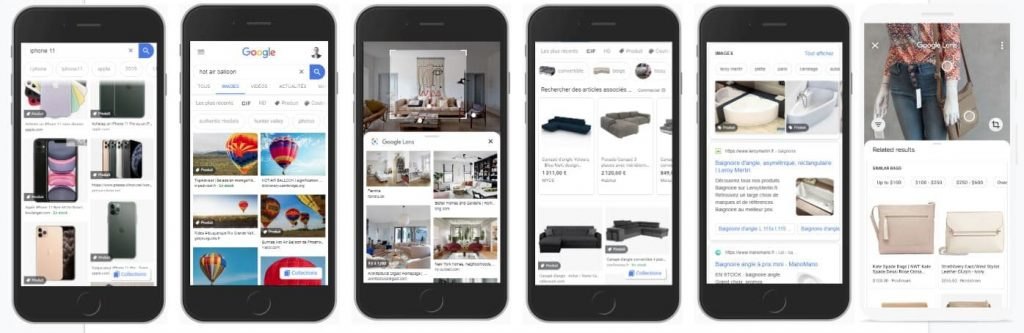 The growth of visual search